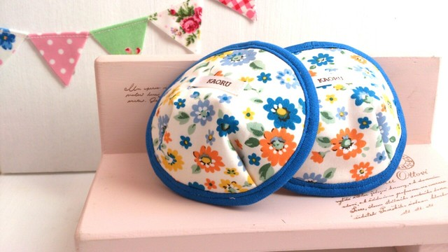 可愛い布母乳パット〜blueflower