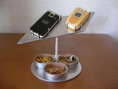 \t 携帯電話スタンド 2台携帯電話スタンド トリプル丸トレイ