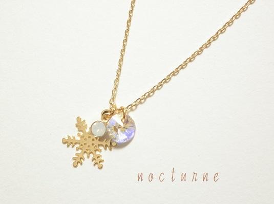雪の結晶のネックレス〜Gold〜