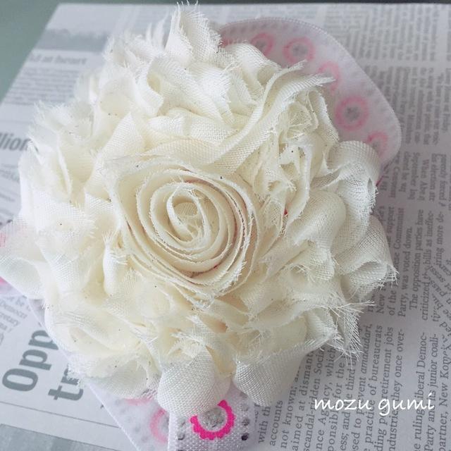 【赤ちゃん用】ベアフットサンダル(白・ラメ付き+お花柄・白)