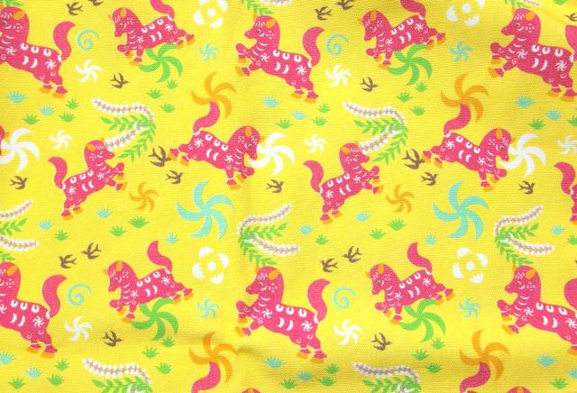 オリジナルファブリック「馬」黄色