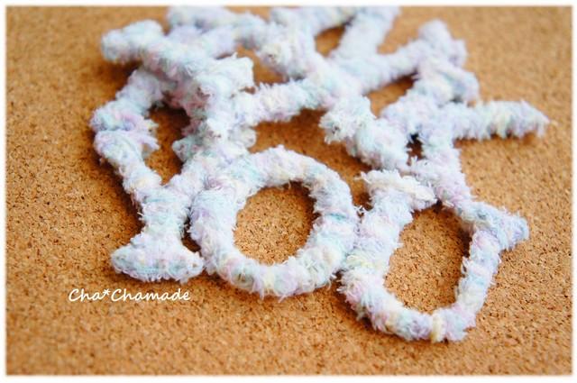 毛糸のアルファベット  切り文字
