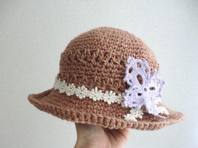 大きな蝶モチーフの帽子 50cm