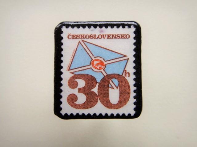チェコスロバキア 切手ブローチ1340