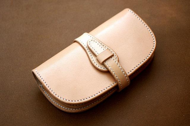 本革ロングサイズ財布 ベルト (受注製作)