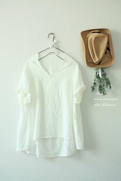 ���硼�륫�顼�֥饦����short sleeve / ecru / lammy(��)100%