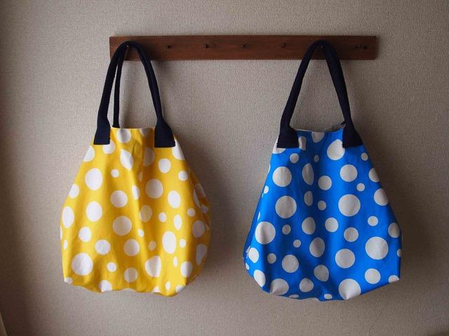 黄色と青のbag
