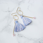 [Archive Price Down]  Tassel Star Pierced Earrings - BLUE+PINK