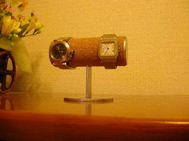 シンプル丸パイプ2本掛け腕時計スタンド
