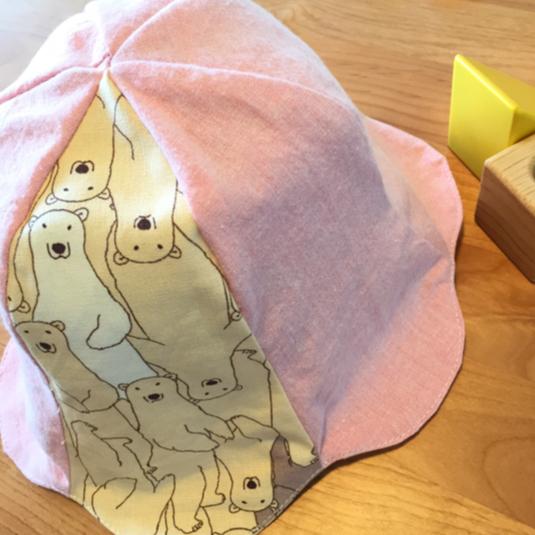 くまさんのチューリップ帽?ピンク【送料...