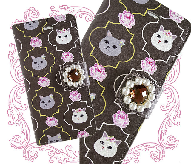 【Sale!!】ビジュー付き iPhone 6/6s ケース 大福猫