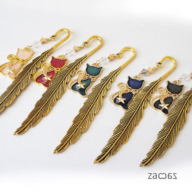 【販売終了】リボン猫の羽根ブックマーカー