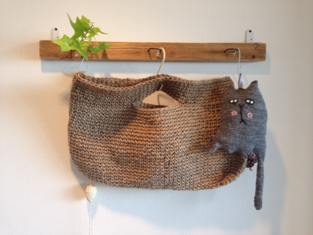 麻紐手編みバッグA