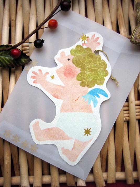 天使のクリスマスカードセット(3枚入)
