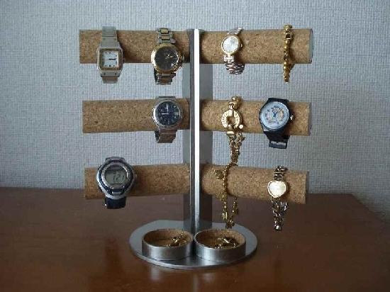 腕時計スタンド 12本掛け角度付き腕時計スタンド ダブル丸トレイ