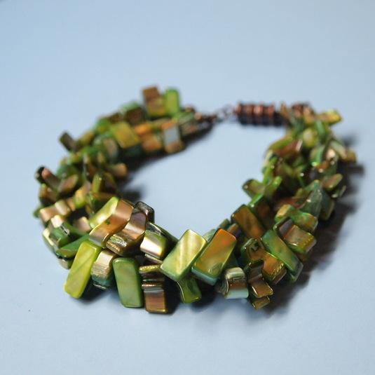 Green Shell Bracelet
