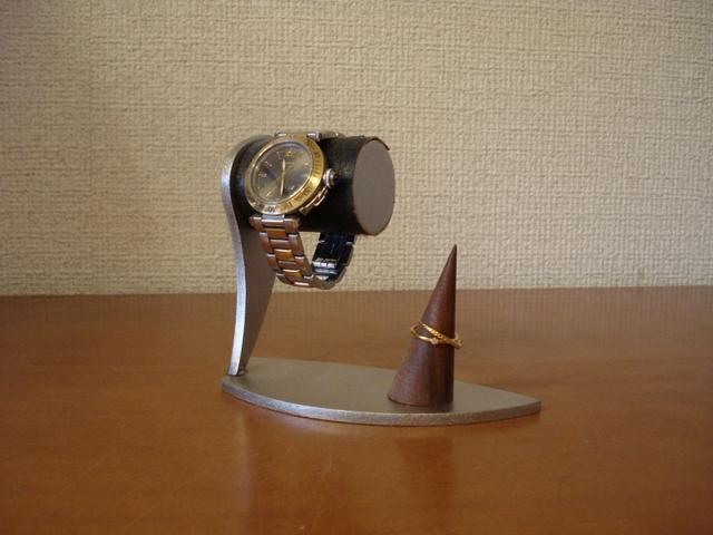 腕時計スタンド ブラックコルク腕時計スタンド シングルリングスタンド付き