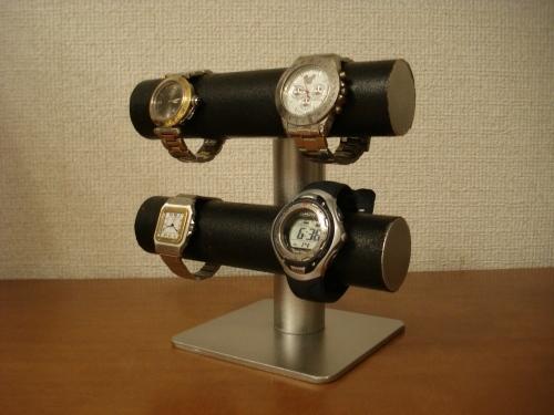 飾る向きを変えれるブラック手動式腕時計スタンド