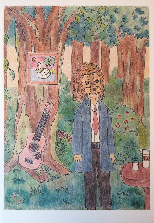「ギター弾きの犬」ポストカードセット