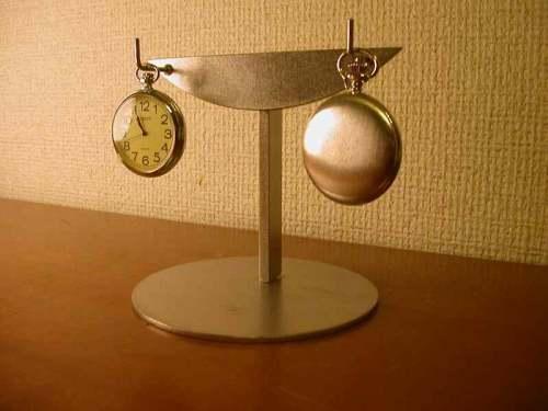 懐中時計スタンド 2本掛けスタンド