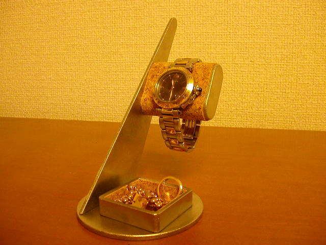 ウォッチスタンド トレイ付きだ円腕時計スタンド