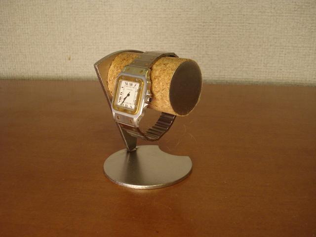 腕時計スタンド 丸パイプ扇形支柱腕時計デスクスタンド