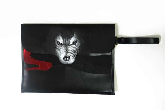 wolf clutch bag ※4/17〜5/14受注お休み
