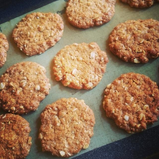 アンザッククッキー(5枚入り) 卵なしで作ったお菓子