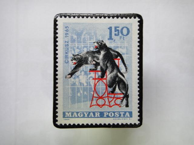 ハンガリー 切手ブローチ1349