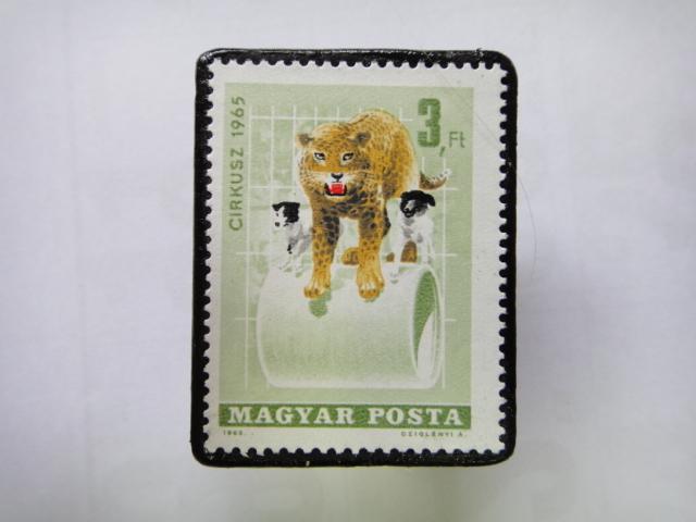 ハンガリー 切手ブローチ1352