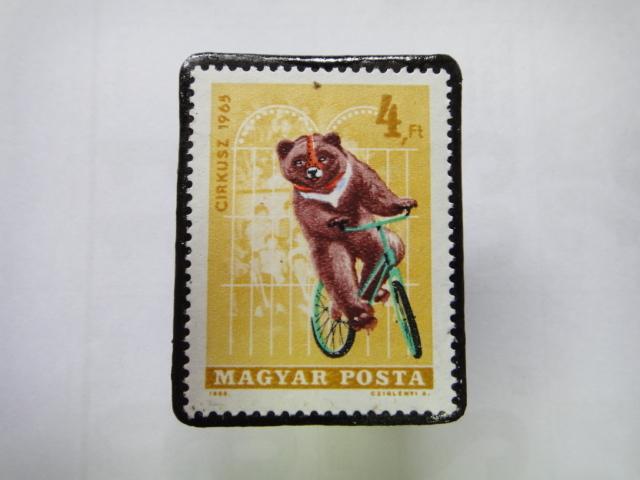 ハンガリー 切手ブローチ1353