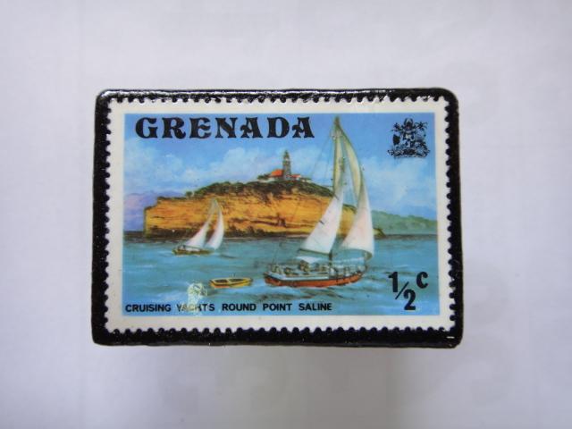 グレナダ 切手ブローチ1343
