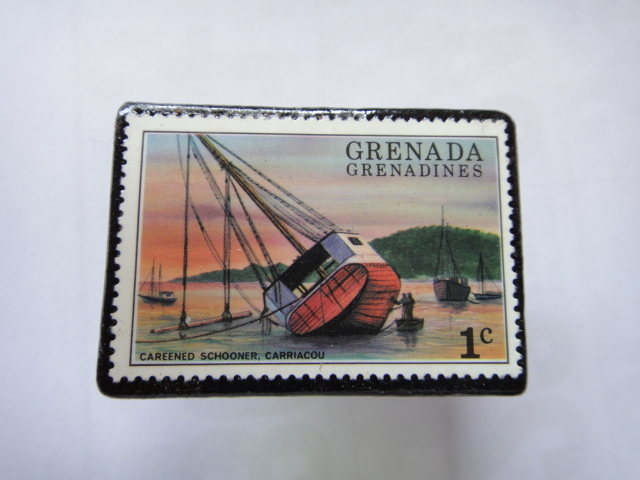 グラナダ 切手ブローチ1344