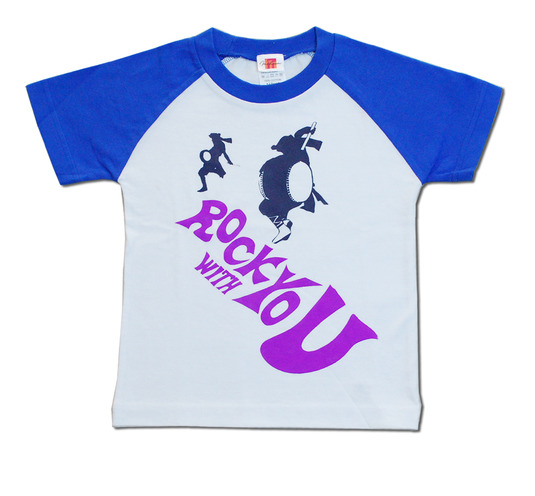 ROCK WITH YOU ラグランTシャツ 半そで 110