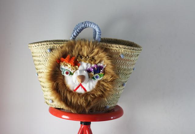 <�ǽ�>Lion kago bag/������