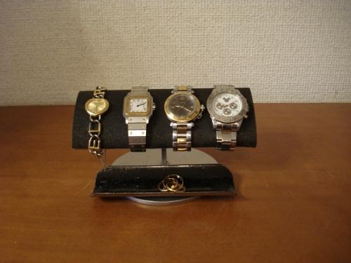 ブラックでかい楕円パイプ男性用腕時計スタンド 彼氏へのプレゼントに!