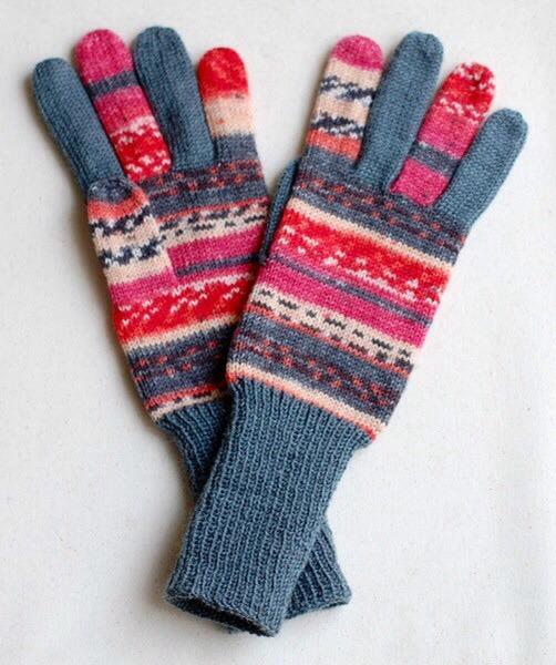 手編み5本指手袋 No.26