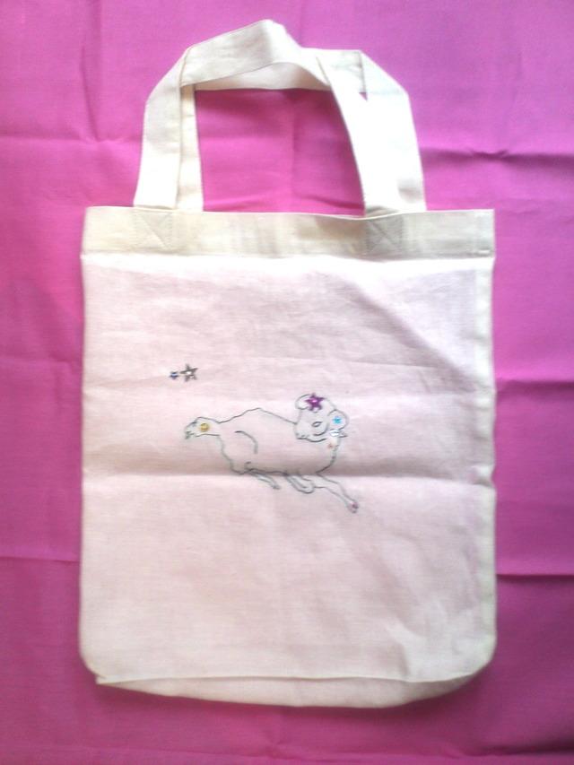 12星座の刺繍バッグ(おひつじ座)