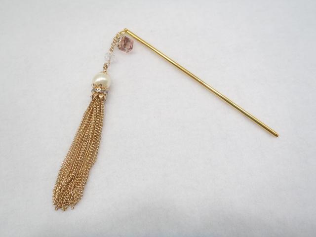 簪(真珠の囁き)ゴスロリ-コスプレ-イベント-パール-鎖