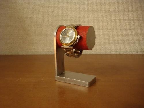 時計スタンド 1本掛けウォッチスタンド レッド