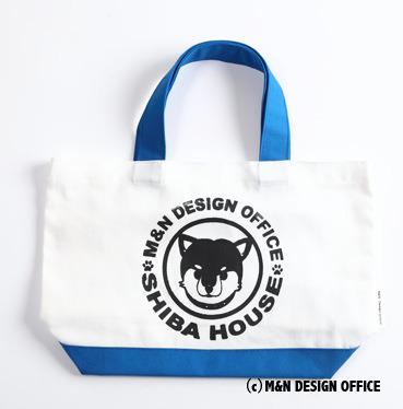 柴犬イラストバッグ/SHIBA HOUSE(青)