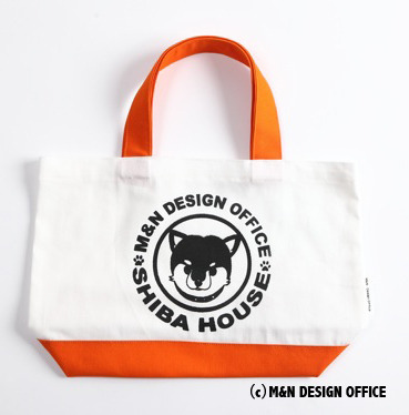 柴犬イラストバッグ/SHIBA HOUSE(オレンジ)