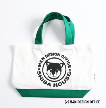 柴犬イラストバッグ/SHIBA HOUSE(グリーン)