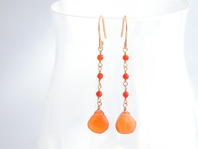 14KGF Peridot Drop Earrings