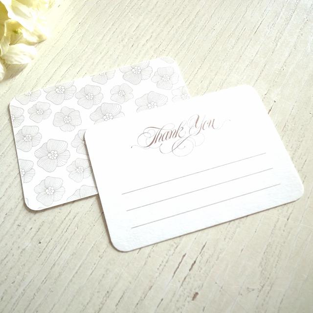 金のお花のサンクスカード