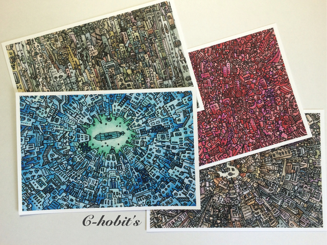 「グチャラゴチャラの街」ポストカード