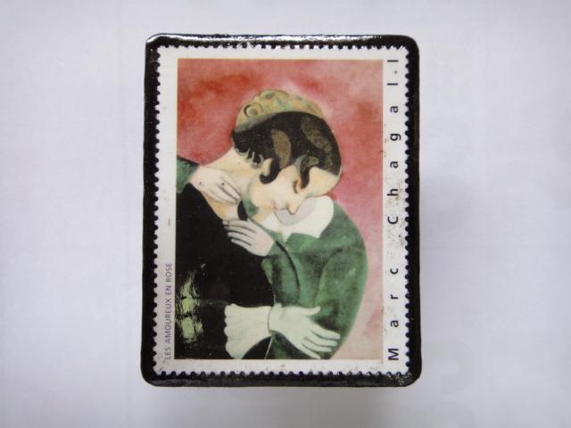 フランス 切手ブローチ1364