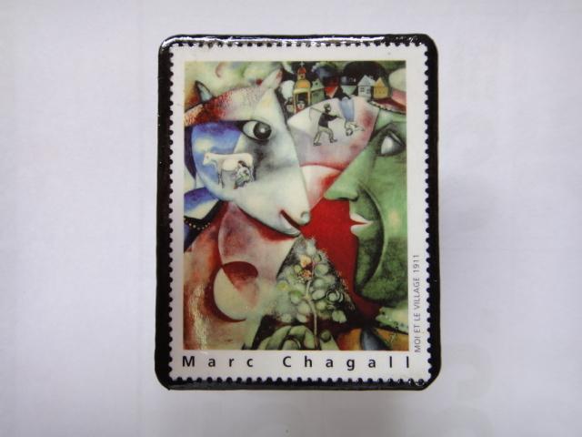 フランス 切手ブローチ1365