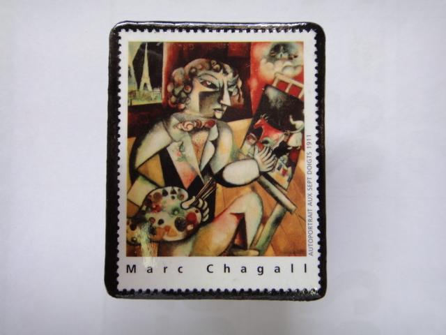 フランス 切手ブローチ1366