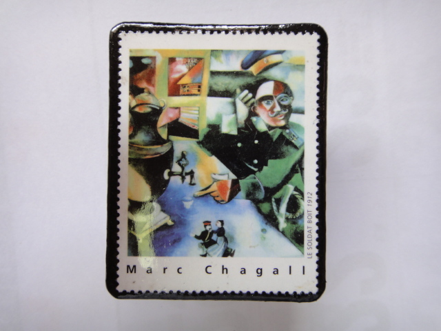 フランス 切手ブローチ1367